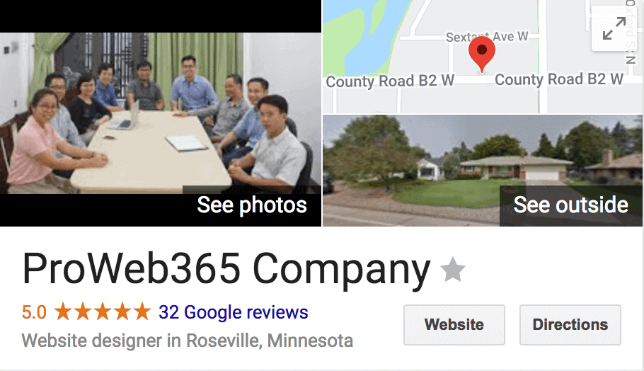 Google Reviews for Minnesota Web Design Company